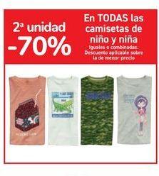 Oferta de En TODAS las camisetas de niño y niña por