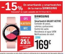 Oferta de Smartwatch GALAXY ACTIVE por 169€