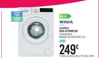 Oferta de Lavadora WVD-07T0WW10U por 249€