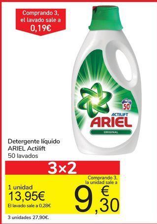 Oferta de Detergente líquido Ariel Actilift por 13,95€