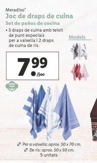 Oferta de Set de paños de cocina por 7,99€