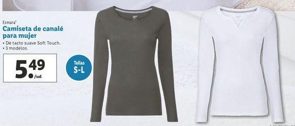 Oferta de Camiseta de canalé para mujer esmara por 5,49€