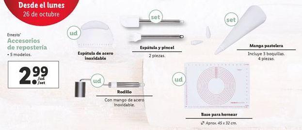 Oferta de Accesorios de repostería por 2,99€