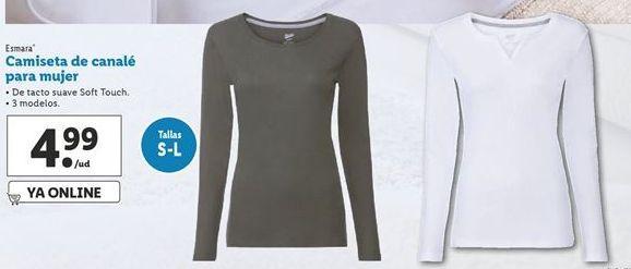 Oferta de Camiseta de canalé para mujer esmara por 4,99€