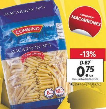 Oferta de Macarrones combino por 0,75€