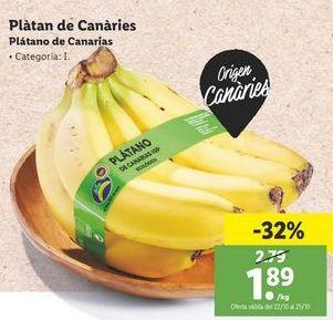 Oferta de Plátanos de Canarias por 1,89€