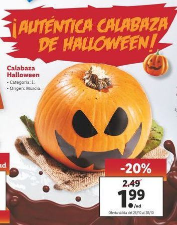 Oferta de Calabaza Halloween por 1,99€