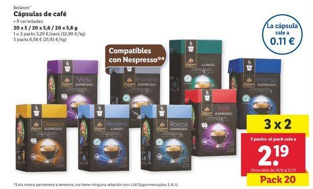 Oferta de Cápsulas de café por 3,29€