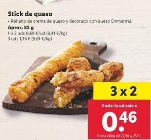 Oferta de Stick de queso por 0,69€