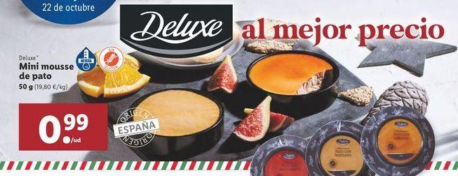 Oferta de Mini mousse de pato Deluxe por 0,99€
