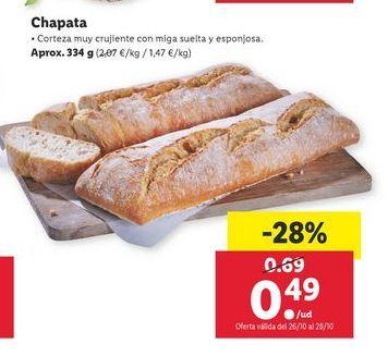 Oferta de Chapata por 0,49€