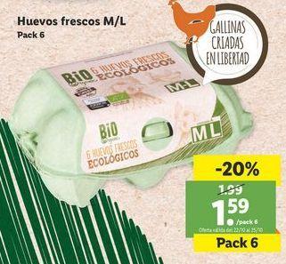Oferta de Huevos frescos M/L  por 1,59€