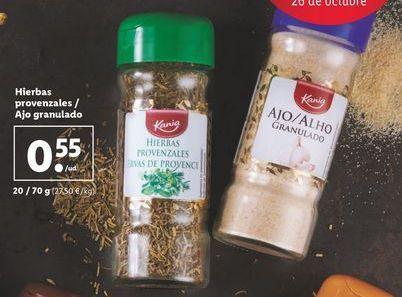 Oferta de Hierbas provenzales / Ajo granulado por 0,55€