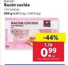 Oferta de Bacon cocido Realvalle por 0,99€