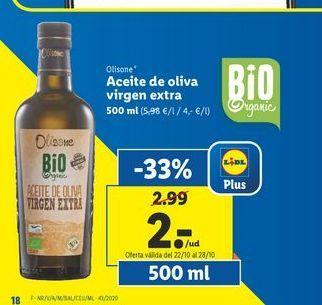 Oferta de Aceite de oliva virgen extra olisone por 2€