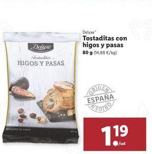 Oferta de Tostaditas con higos y pasas Deluxe por 1,19€