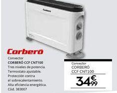 Oferta de Convector 2.000 W CORBERÓ CCF CNT100 por 34,99€