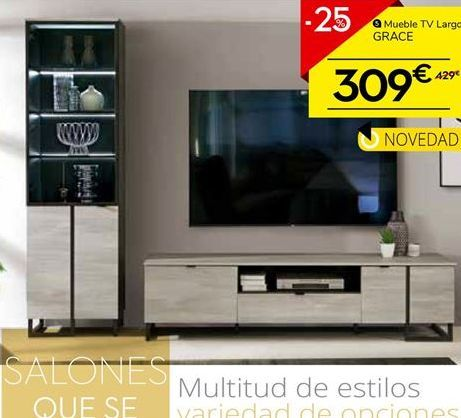 Oferta de Mueble tv LARGO GRACE por 309€