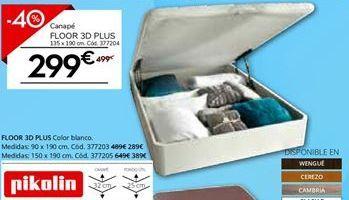 Oferta de Canapé blanco PIKOLIN FLOOR 3D PLUS por 299€