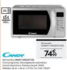 Oferta de Microondas Candy por 74,99€