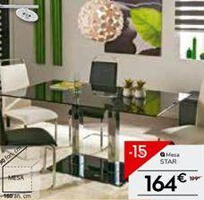 Oferta de Mesa de comedor STAR por 164€
