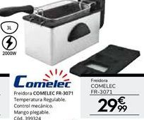 Oferta de Freidora 3 L 2000 W COMELEC FR 3071 por 29,99€