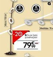 Oferta de Pie de salón SYMPHONY por 79,99€