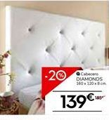 Oferta de Cabecero DIAMONDS por 139€