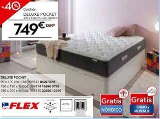 Oferta de Colchón de muelles ensacados FLEX DELUXE POCKET 19 por 749€