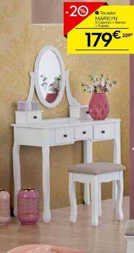 Oferta de Tocador con 7 cajones y espejos MARILYN por 179€