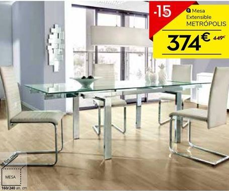 Oferta de Mesa extensible METRÓPOLIS por 379€