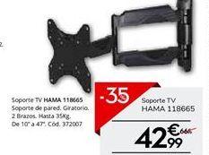 Oferta de Soporte HAMA VESA 20X20 por 42,99€