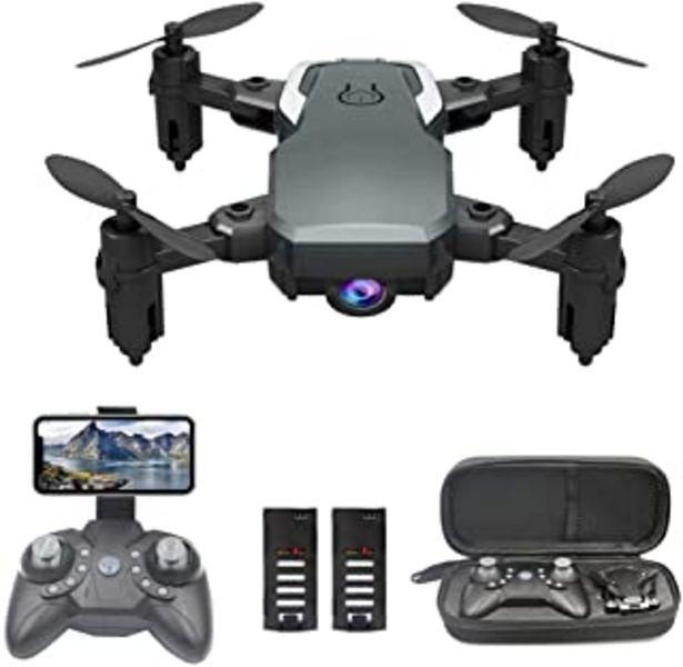 Oferta de 0BEST Mini Dron con Cámara 1080P HD, RC Quadcopter Plegable por App o 2.4GHz Control Remot, Giro de 360 °, Sigue la Trayec... por 39,99€