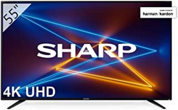 "Oferta de Sharp LC-55UI7252E - UHD Smart TV de 55"" (resolución 3840 x 2160, HDR, 3X HDMI, 2X USB, 1x USB 3.0) Color Negro por 373,28€"