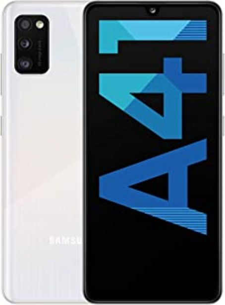 """Oferta de Samsung Galaxy A41 - Smartphone 6.1"""" Super AMOLED (4GB RAM, 64GB ROM), Blanco[Versión española] por 218,98€"""