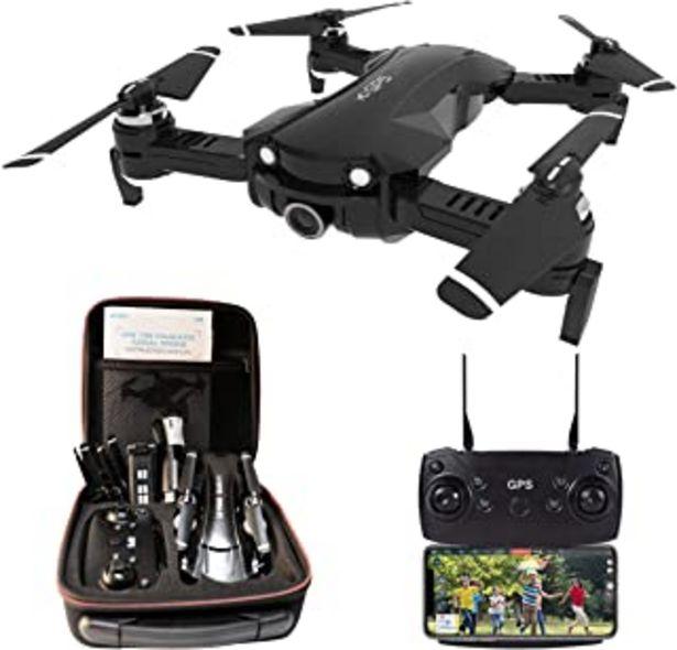 Oferta de Le-idea Drone con Camara 4K HD, Drone 5GHz WiFi FPV, Drones GPS con Camara Profesional, Dron Plegable RC, Modo sin Cabeza,... por 165,99€