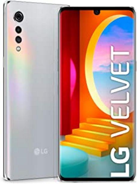 "Oferta de LG Velvet 4G - Smartphone con Pantalla OLED 17.3 cm (6.8"") FullVision, Cámara Ultra-High 48MP, Sistema de Sonido LG 3D, Ba... por 310€"
