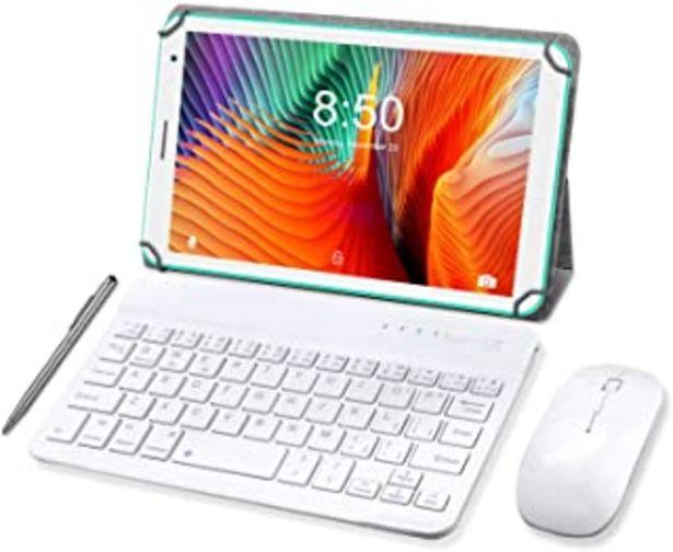 Oferta de Tableta 8 Pulgadas, Android 10.0 Pie Tablet PC, 3 GB de RAM y 32 GB de Memoria, Pantalla IPS HD, Quad-Core, WiFi, Netflix,... por 89,99€