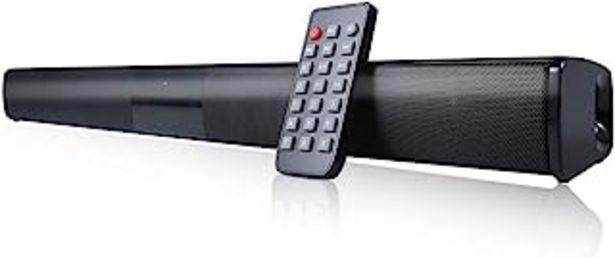 Oferta de Docooler Barra de Sonido Para TV,Luxus inalámbrico BT 4.0 Altavoz SoundBar TV de Cine en casa 3D de Bass televisor de subw... por 30,87€