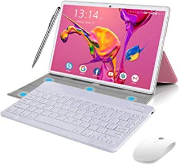 Oferta de Tablet 10 Pulgadas Android 10.0, 4G LTE Tablets, 4GB de RAM y 64 GB/Scalabile a 128 GB, Dobles SIM, GPS, WiFi, 8000mAH,Tec... por 142,99€