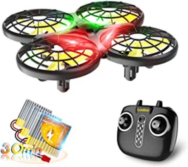 Oferta de Loolinn | Dron para Niños - Mini Drone con Tecnología Anti-Colisión Automática / Acrobacias con Giro de 360° / Tiempo de V... por 55,99€