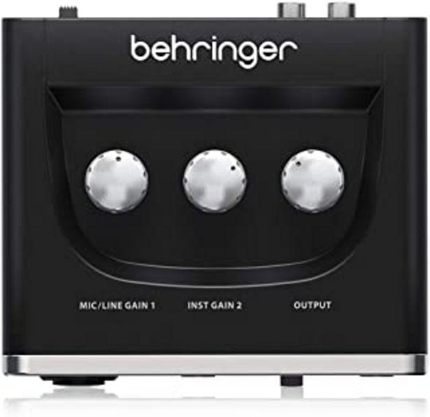 Oferta de Behringer U-PHORIA UM2 Equipos de música adicionales Negro por 31,9€