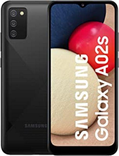 """Oferta de Samsung Galaxy-A02s   Smartphone con Pantalla de 6.5"""" Infinity-V HD+   3GB RAM y 32GB Memoria Interna ampliables   5.000 m... por 137,79€"""