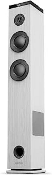 Oferta de Energy Sistem Tower 5 g2 Torre de Sonido con Bluetooth Ivory (65 W, Bluetooth 5.0, True Wireless Stereo, Radio FM, USB/Mic... por 79,85€