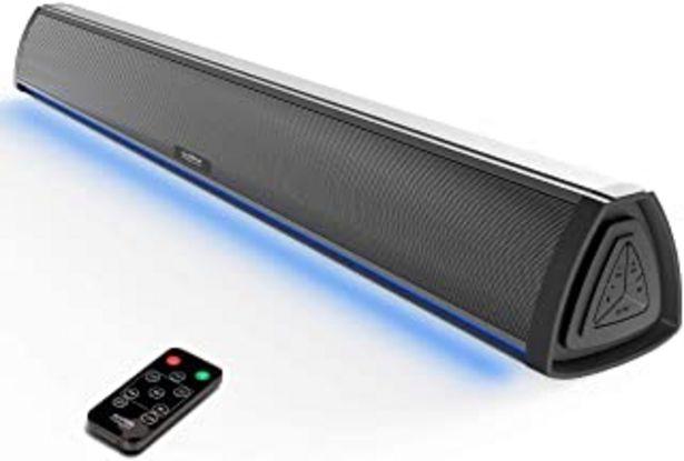 Oferta de Barra de Sonido TV con Bluetooth, Altavoces Barras para Television, Videojuegos, Música, Soundbar Home Cinema, Oficina y P... por 38,99€