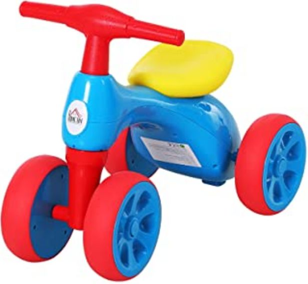 Oferta de HOMCOM Bicicleta sin Pedales con Sonido y Mini Almacenamiento 57x33.5x42.5cm 20kg por 18,03€