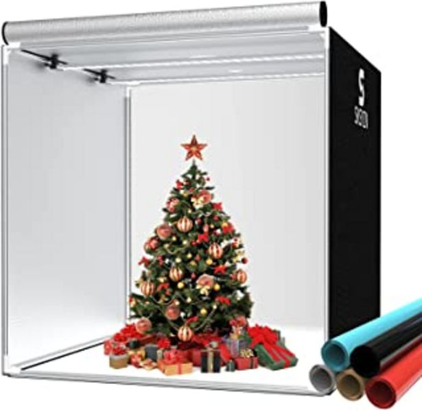 Oferta de SKSYZN Caja de Luz Estudio Fotográfico, 40 x 40''/ 100x100 cm Caja de Fotografía Profesional Plegable para Foto Studio Box... por 126,99€