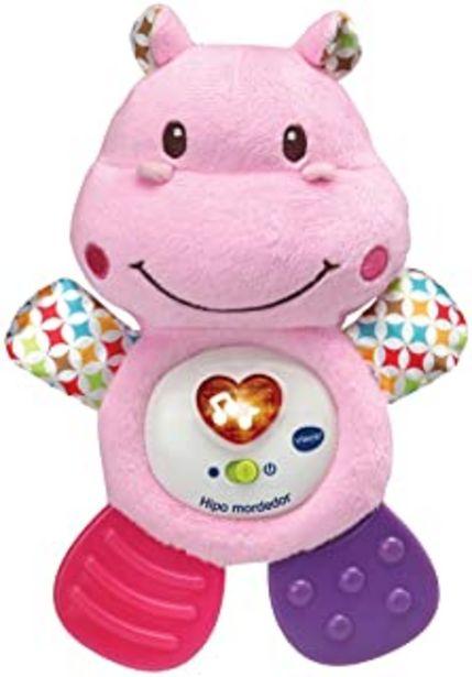 Oferta de VTech Hipo Mordedor Hipopótamo de peluche musical y sonajero que ayuda a calmar y aliviar a tu bebe con tiernas frases, ca... por 15,25€
