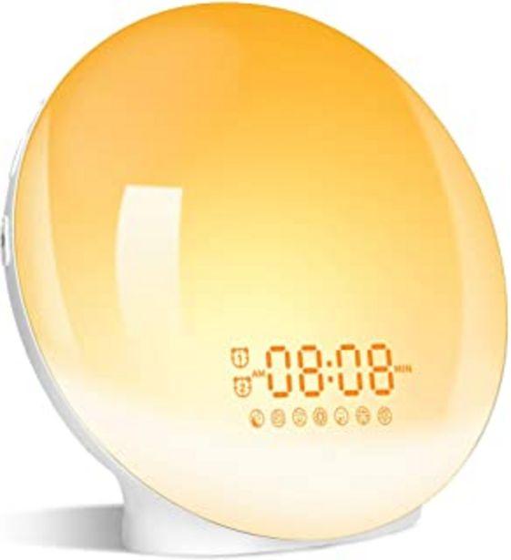 Oferta de Wake Up Light LED Despertador, 2020 Luz Despertador Simulación de Amanecer y Atardece, 2 Alarmas, Función Snooze, 20 Nivel... por 27,99€
