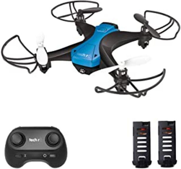 Oferta de Tech rc Mini Drone Fácil de Volar con Dos Baterías Función de Despegue / Aterrizaje de un Botón, Modo sin Cabeza Protector... por 35,99€